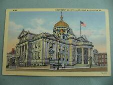 Washington County Court House WASHINGTON PENNSYLVANIA PA Linen Postcard
