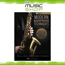 New Modern Saxophone Techniques Music Tuition Book & OLV