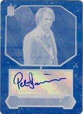 Topps 2015 Doctor Who Cyan Printing Plate Peter Davison Autograph 1/1 UNIQUE!