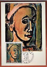 1971 - FRANCE-FDC CP - G.ROUAULT-ART-TABLEAUX-OBL.PARIS**TIMBRE..Yt.1673