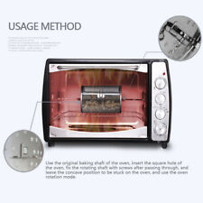 Rotating Stainless Steel Roasting Cage Drum Baking Tool for Electric Oven New