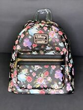 Disney Loungefly Alice in Wonderland Floral Cheshire Cat Mini Backpack NWT