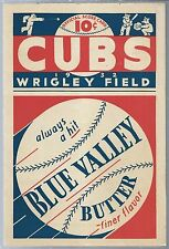 1932 Chicago Cubs Baseball Program Scorecard vs Brooklyn Dodgers C