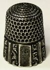 Antique Simons Bros Child Sterling Silver Thimble   Fluted Octagon    E   D1889