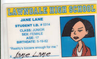 Jane Lane novelty plastic collectors card Drivers License