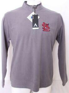 NEW Saint St. Louis Cardinals Antigua 1/4 Zip Pullover Jacket shirt Men's L