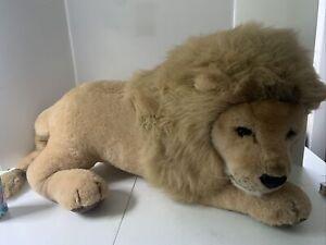 "Douglas Listerine is King Giant Lion Cat Plush Stuffed Animal Jumbo Laying 43"" L"