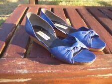 Scarpe donna GIORGIO ARMANI ORIGINALI blu elettrico VERA PELLE N°38 cobalt shoes