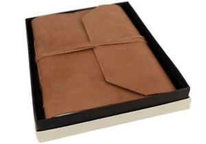Beatnik Leather Journal Tan, A4 Plain Pages - Handmade by Life Arts