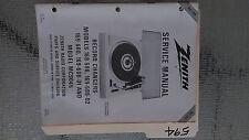 Zenith 169-598 02 600 01 mc9045 service manual original repair book turntable