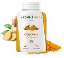 Curcuma Bromélaine • poudre PURE dosée en curcumine à 95% curcuminoides 700mg