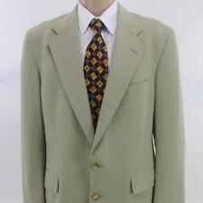 42 L Ralph Lauren Solid Beige Wool 2 Btn Mens Summer Jacket Sport Coat Blazer