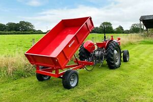 WTL15 - Winton Tipping Trailer 1.5tn Capacity - For Compact Tractors
