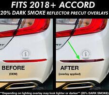 2018-2020 Accord SMOKE Rear Bumper REFLECTORS Overlays Vinyl Tint Precut Dark