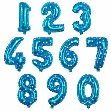 16in Foil Balloons Alphabet Letter & Numbers Birthday Wedding Party Decorations Blue R