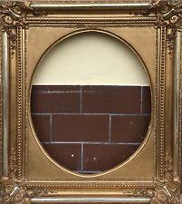 Antiker Bilderrahmen #2 Gold Prunkrahmen Biedermeier um 1850 70 x 60 cm Empire