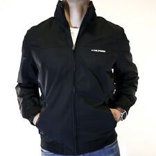 NWT Tommy Hilfiger Yacht Jacket Black Spelled Out Full Zip Size M Waterproof
