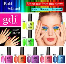 GDI NAILS - NEON GLOW - UV LED SOAK OFF GEL NAIL POLISH VARNISH