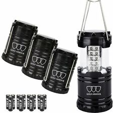 Hurricane Survival Lantern Camping Lights for Hiking Emergencies Outages 4-Pack