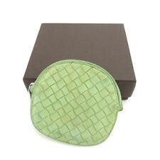 Bottega Veneta Wallet Intrecciato Green Silver Woman unisex Authentic Used  S434 1b0086e38d67e