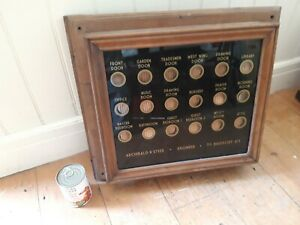 butlers and servants bell indicator box very large