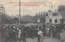 B93173 bruxelles l exposition de 1910 apres l incendie belgium