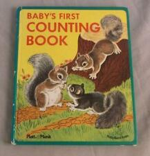 BABY'S FIRST COUNTING BOOK 1988 HARDCOVER BABY BOARD BOOKS PLAT & MUNK