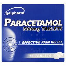 2 x PARACETAMOL 500MG TABLETS - PAIN RELIEF - MIGRAINE - BACK ACHE MUSCULAR PAIN