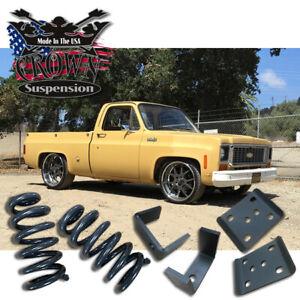 "1973-1987 GMC Chevy Squarebody C10 3""-5"" Drop Lowering Springs Coils Flip Kit"