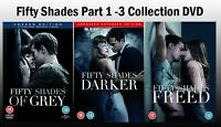 FIFTY SHADES COMPLETE COLLECTION DVD of Grey Darker Freed UK Rele New Sealed R2