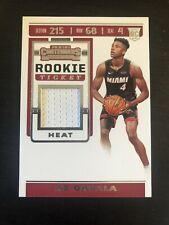 KZ Okpala 2019-20 Panini Contenders Rookie Ticket Swatches #RTS-KZO Heat RC