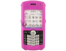 Rubberized Plastic Case Pink For BlackBerry Pearl 8100