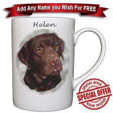 Labrador Chocolate - Bone China Mug Personalised With Any Name Added
