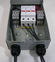 Solar Combiner Box - Fused, Pre-wired MC4, 3-String Solar Panel Combiner
