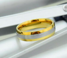 6mm hombres mujeres Titanio Oro Plata Bodas Compromiso Anillo banda tamaño Q alj72202
