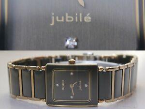 RADO Jubile 4 Diamonds Ceramic Black Ladies 18mm 153.0283.3 N