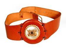 Allardale Vtg Womens Leather Statement Belt/ Buckle Crest Griffins Dragons 1966