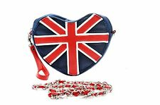 Danielle Heart Shaped Union Jack Bag