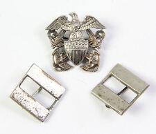 Insignes de grade et de calot d'officier US NAVY WW2  (matériel original)
