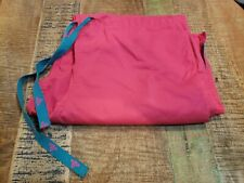 Guc Med Couture Ez Flex Womens Scrub Bottoms Size M Pink With Teal Accents
