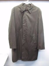 Campus All Weather Removable Lining Green Trench Coat Jacket Size 42 Long USA