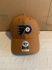 Philadelphia Flyers Nhl '47 Carhartt Mens Brown Mvp Adjustable Hat Cap New