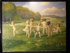 Köln Jugendstil Münchner Schule Franz Guillery  Kinder Reigen Akte Nude Nackedei