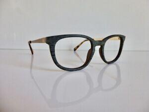 Originale Holzbrille einSTOFFen, Mod. Schmetterling, schwarze Aprikose