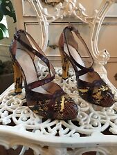 WITTNERS~snake skin~ STILETTOS~heels~SHOES~ size 37~7~ BEAUTIFUL~wedding ~formal