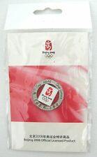 New 2008 Beijing Olympic Official Round Pin 'One World - One Dream'