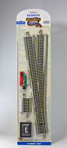 Bachmann HO Scale E-Z Track Section - #6 Turnout, Right Hand