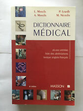 DICTIONNAIRE MEDICAL 1999 MANUILA MASSON MEDECINE
