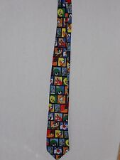 Looney Tunes Buggs Bunny Stamp Collection 1997 Neck Tie Warner Brothers