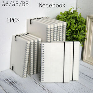 Spiral book coil Notebook Lined DOT Blank Grid Paper Journal Diary Sketchbook-^